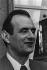 Paul Bocuse (1926-2018), chef cuisinier français, sur le perron de l'Elysée portant sa médaille de chevalier de la Légion d'Honneur. Paris (VIIIème arr.), février 1975. © Jacques Cuinières / Roger-Viollet