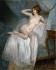 """Pierre Carrier-Belleuse (1851-1932). """"Au réveil"""". Pastel sur toile, 1912. Musée des Beaux-Arts de la Ville de Paris, Petit Palais. © Petit Palais/Roger-Viollet"""