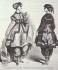 Costumes de bains de mer. Etoffes et nouveautés des Magasins du Printemps. Gravure, France, 1864. Collection Pierre Jahan (1909-2003). © Pierre Jahan / Roger-Viollet
