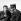Henri Salvador et Francis Blanche tournant un film.    © Claude Poirier/Roger-Viollet