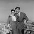 """""""Les Distractions"""", film de Jacques Dupont. Eva Damien et Jean-Paul Belmondo. France-Italie, 30 mai 1960. © Alain Adler/Roger-Viollet"""