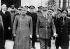 Guerre 1939-1945. Le général Franco (1892-1975) et le maréchal Pétain (1856-1951). Montpellier (Hérault), février 1941. © LAPI / Roger-Viollet