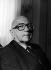 Edgar Faure (1908-1988), homme politique français. Paris, juin 1982. © Kathleen Blumenfeld/Roger-Viollet