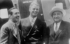 Walt Disney, producteur et réalisateur américain, Elliott Roosevelt, fils du président des Etats-Unis et Joseph Schenck, président de la compagnie United Artists, de gauche à droite. © Albert Harlingue / Roger-Viollet