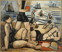"""Marcel Gromaire (1892-1971). """"Les jeux sur la plage"""". Huile sur toile, 1927. Paris, musée d'Art moderne. © Musée d'Art Moderne/Roger-Viollet"""
