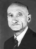 Robert Schuman (1886-1963), juriste et homme politique français, 1955. © Ullstein Bild / Roger-Viollet