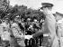 Francisco Franco (1892-1975), homme d'Etat et général espagnol, serrant la main du prince Juan Carlos (né en 1938), héritier du trône d'Espagne. Madrid (Espagne), 24 mai 1964. © TopFoto/Roger-Viollet