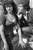 """Robert Hirsch (né en 1925), acteur français, et la doublure de Gina Lollobrigida pendant le tournage du film """"Notre-Dame de Paris"""" de Jean Delannoy. France, 1956. © Gaston Paris/Roger-Viollet"""