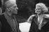 """Tournage de """"La Voie lactée"""" de Luis Buñuel L. Buñel et Delphine Seyrig. 1968. Photographie de Georges Kelaidites (1932-2015). © Georges Kelaïditès / Roger-Viollet"""