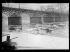 """Guerre 1939-1945. Le pont des Arts sous la neige et la Seine gelée. Paris (VIème arr.), 21 janvier 1940. Photographie du journal """"Excelsior"""". © Excelsior – L'Equipe/Roger-Viollet"""