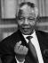 Nelson Mandela (1918-2013), homme politique sud-africain, chef du Congrès national africain, 5 octobre 1993. © Ullstein Bild / Roger-Viollet