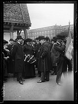 World War One. Maurice Barrès (1862-1923), French writer and politician, at the Tuileries park for St. Joan of Arc Feast Day. Paris, on May 12, 1918. © Excelsior – L'Equipe/Roger-Viollet