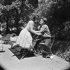 Jean-Paul Belmondo (né en 1933), acteur français, et son épouse Elodie Constant, danseuse française, 5 juillet 1959. © Alain Adler/Roger-Viollet