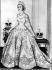 Esquisse de la robe de couronnement de la reine Elisabeth II créée par Sir Norman Bishop Hartnell (1901-1979), couturier britannique, juin 1953. © TopFoto/Roger-Viollet