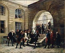 Georges Cain (1853-1919). Marie-Antoinette leaving the Conciergerie, on October 16, 1793. Oil on canvas, 1885. Paris, musée Carnavalet.  © Musée Carnavalet/Roger-Viollet