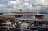 """Fort-de-France (Martinique). Le """"Queen Mary 2"""" dans le port. Mars 2004. © Roger-Viollet"""