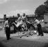 """La Belle Américaine"", film de Robert Dhéry. Robert Dhéry, Catherine Sola, Colette Brosset et Jacques Fabbri. France, 26 juin 1961.  © Alain Adler/Roger-Viollet"