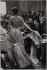 La haute couture parisienne. Bettina présentant la collection de Givenchy. 1954. Photographie de Jean Marquis (né en 1926). Bibliothèque historique de la Ville de Paris. © Jean Marquis / BHVP / Roger-Viollet