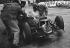 Grand Prix de Monaco. La BRM accidentée de Graham Hill. 29 mai 1960. © Roger-Viollet