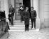 Camille Chautemps (1885-1963), homme politique français et Anthony Eden, comte d'Avon (1897-1977), homme politique anglais, au Quai d'Orsay. Paris, 1939.  © LAPI / Roger-Viollet