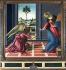 "Sandro Botticelli (1445-1510). ""L'Annonciation"". Florence (Italie), Galerie des Offices. © Alinari/Roger-Viollet"