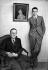 Jean Giraudoux (1882-1944), écrivain et auteur dramatique français et son fils Jean-Pierre.     © Roger-Viollet