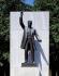 Statue de Théodore Roosevelt (1858-1919), homme d'Etat américain, sur Roosevelt Island. New York (Etats-Unis), dans les années 2000. © The Image Works / Roger-Viollet