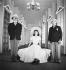 """""""L'Apollon de Bellac"""", pièce de Jean Giraudoux. Hubert Ronchon, Dominique Blanchar et Jacques Mauclair. Paris (IXème arr.), théâtre de l'Athénée, avril 1947. © Studio Lipnitzki / Roger-Viollet"""