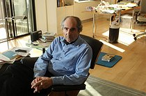 Philip Roth (1933-2018), écrivain américain, chez lui. New York (Etats-Unis), 14 mars 2012. Photographie de The Star-Ledger / John Munson. © John Munson / The Image Works / Roger-Viollet