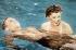 """""""Frisson d'amour"""" (Thrill of a Romance), film musical de Richard Thorpe. Van Johnson et Esther Williams. Etats-Unis, 1945. © TopFoto / Roger-Viollet"""