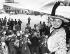 Esther Williams (1921-2013), actrice et nageuse américaine, photographiée à son arrivée à l'aéroport de Ciampino. Rome (Italie), 5 juin 1957. © TopFoto / Roger-Viollet