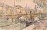 """Paul Signac (1863-1935). """"Remorqueur devant le Pont Neuf"""". Aquarelle et crayon noir, 1923. New York (Etats-Unis), Metropolitan Museum of Art. © TopFoto / Roger-Viollet"""